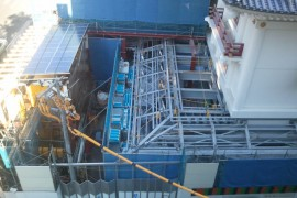 歌舞伎座、建設中