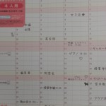 家族のカレンダー