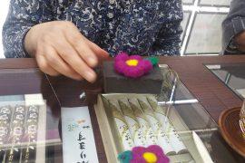 羊毛フェルトのお花